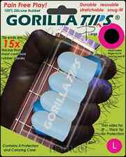 Gorilla Tips Fingertip Protectors Clear Size Large Guitar Banjo Ukulele Bass