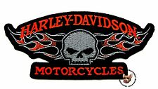 HARLEY DAVIDSON MOTORCYCLE WILLIE G FLAMING SKULL VEST JACKET PATCH
