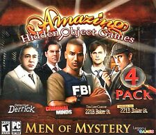 Amazing Hidden Object Games Men Of Mystery 4 Pack PC Game Window 10 8 7 Vista XP