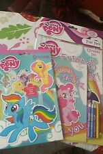 My Little Pony 700 Kids Stickers & colouring books with pencils bargain price *