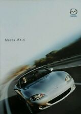 Mazda MX5 1.6i 1.8i 1.8iS Convertible  Sales Brochure - December 2002