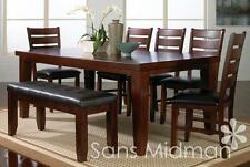 NEW! Barlow Dining Room Furniture 9 piece Set , Table w/leaf and 8 Chairs