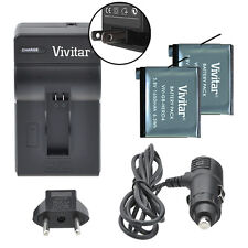 Vivitar Dual Battery AHDBT-401 & Charger Kit for GoPro HERO4