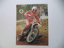 advertising Pubblicità 1983 MOTO GILERA 125 CROSS e CORRADO MADDII