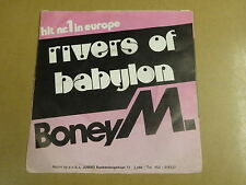 45T SINGLE WITH RARE BELGIAN IMPORT COVER / BONEY M - RIVERS OF BABYLON