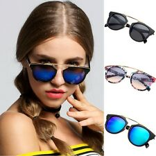 Hot Fashion Lady Women's Outdoor Round Glass Metal Casing Full Frame Sunglasses