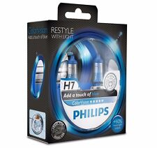 Philips H7 ColorVision Blue headlight bulb +60% Set 2x H7 12V 55W 12972CVPBS2