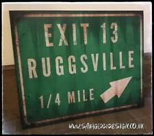 Exit 13 to Ruggsville sign from House of 1000 corpses - Devils rejects