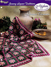 Summer Clemantis Afghan, Granny Square Traditions crochet pattern