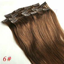 Clip in Straight 100% Real Remy Human Hair Extensions 70g 15inch Full 7pcs Set