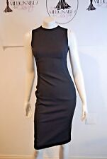 DOLCE & GABBANA 361216 BLACK WOOL SHEATH DRESS SZ 38