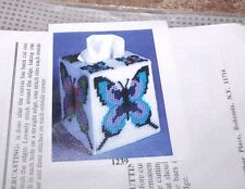 Design Works BUTTERFLY  Tissue Box Cover Plastic Canvas Kit