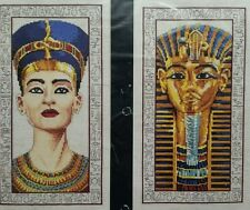 King Tut Egyptian Busts Counted Cross Stitch Kit Egypt Pair Rare / Uncommon