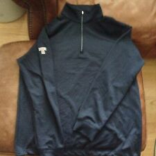 Dunning Golf 1/4 Zip Pullover Blue Size Large