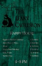 The Leaky Cauldron, Harry Potter fan art poster, Diagon Alley, digital