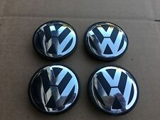 NEW 4PC SET 56MM VW VOLKSWAGEN GOLF BEETLE POLO WHEEL HUB CAPS LOGO 1J0601171