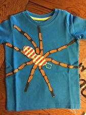 *NIP MINI BODEN* Boys Big Appliqué Cobalt Spider T- Shirt NEW Size 2-3Y
