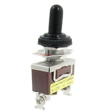 New AC 250V 15A ON/OFF/ON Momentary  SPDT Toggle Switch with Waterproof Boot