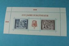 Blockausgabe 200 Jahre Burgtheater - 3 Marken Austria 1976   /S95