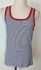 New Gap Tank Top Large Striped Cotton Scoop Neck Sleeveless Shirt