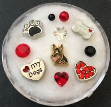Floating Charm Set~*~CHOOSE Dog German Shepherd Scottie etc~*~Living Locket