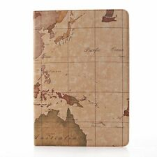 Brown World Map Leather Case Cover For Samsung Galaxy Note Pro 12.2 P900/P901