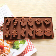 Christmas Tree Snowman Chocolate Cookies Cake  Baking Silicone Mold Decorating