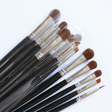 Beautydec Pro 15 Pcs Eye Shadow Eyeliner Black Travel Makeup Brush Set Free Ship