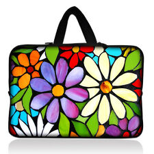 "Flower 15"" 15.6"" Laptop Notebook PC Carry Sleeve Case Bag Cover with Hide Handle"