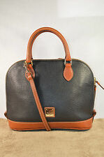 Dooney and Bourke Bitsy in Pebble Leather Black Grey Women's Satchel / Hand Bag