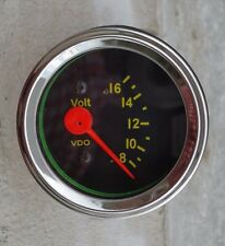 "New Volt Gauge Voltmeter  VDO type, 2-1/16""/52mm, 12V system, w/wire harness"