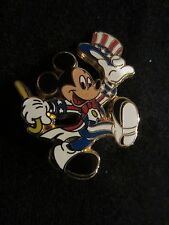 WDW Disney Pin Mickey Mouse as Uncle Sam Walking Left Red White & Blue Tux Tokyo