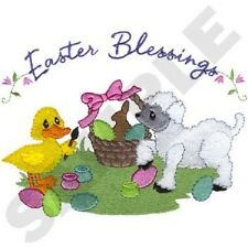 EASTER BLESSINGS NEW SET OF 2 BATH HAND TOWELS EMBROIDERED BY LAURA