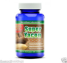 Yacon Root Appetite Suppressant Sugar Substitute Syrup Alternative 60 Capsules