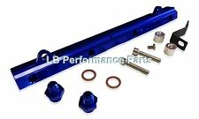 Uprated High Flow Fuel Rail for MITSUBISHI EVO 7 8 9 - Blue