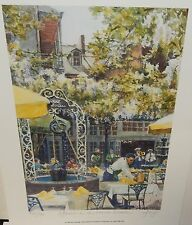 """ANN DELORGE """"AFTERNOON IN THE FRENCH QUARTER """" NEW ORLEANS SIGNED LITHOGRAPH #2"""