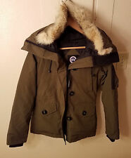 Canada Goose 'Montebello' Down Parka Coyote Fur Green Women Size XS MSRP $800
