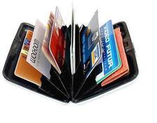 New... Metal WATERPROOF BUSINESS CARD HOLDER Aluminum ID Wallet, Water Resistant