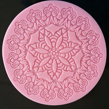 "5"" Round Lace Silicone Doily Mold for Fondant, Gum Paste, Chocolate and Crafts"