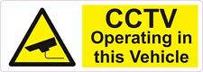 2 x Large vinyl cctv operating in this vehicle 280x100mm car TAXI BUS van decal