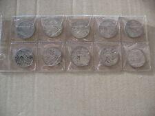 REGNO D ITALIA 10 MONETE ARGENTO LIRE £ 1 GR 50 ANNI 1910-1912-1913 CIRCOLATE