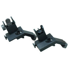 Front and Rear Flip Up 45 Degree Offset Rapid Transition Backup Iron Sight