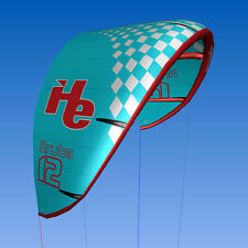 New 2015 12m2, flyHelium Aruba kiteboarding Kite (Blue). Ideal for all levels.