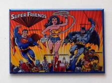 "SUPER FRIENDS Metal LUNCHBOX   2"" x 3"" Fridge MAGNET ART"