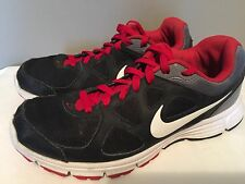 2012 NIKE REVOLUTION RUNNING SHOE 488183-004 Men's Size 9 US BLACK & RED