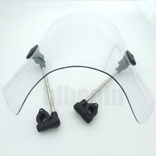 """Large 19""""x17"""" Clear Windshield Universal  For Motorcycle 7/8 & 1"""" Handlebars New"""