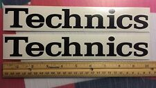 "2 TECHNICS VINYL STICKER  DECAL DJ TURNTABLES Serato 10"" X 1.4"" Laptop Cases"