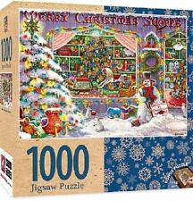 MASTERPIECES HOLIDAY PUZZLE MERRY CHRISTMAS SHOPPE JANET KRUSKAMP 1000  # 71675