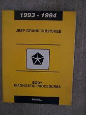 1993 1994 Jeep Grand Cherokee Body Diagnostic Procedures Manual Compass Auto  U