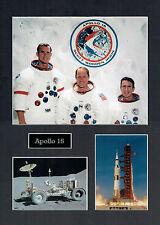 Apollo 15 16x12 Mounted Crew Photo Astronaut Space Montage